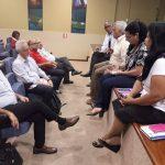 Reunião que deu início à construção do ONDAS durante o FAMA 2018, março de 2018, em Brasília 3