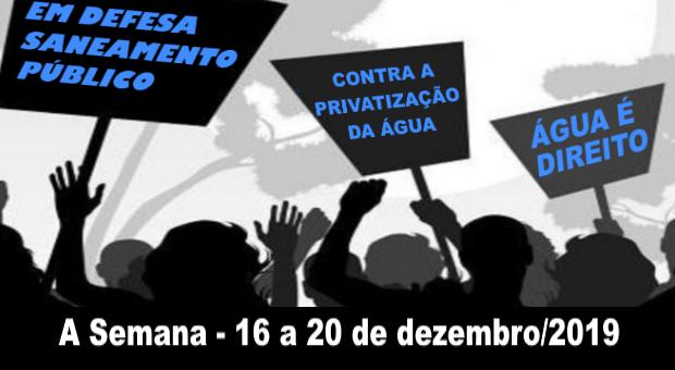 Luta contra privatização do saneamento