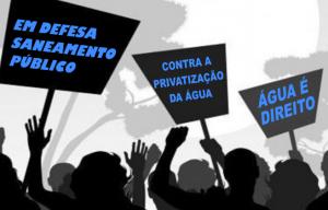 Luta contra privatização do saneamento 7