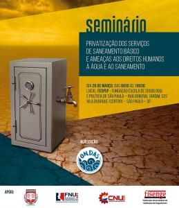 Privatização dos serviços de saneamento básico