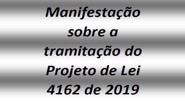 suspensão da tramitação do PL 4.162/2019