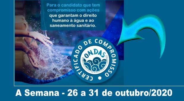 Selo identifica candidato(a) nas eleições que assume compromisso pelo direito à água e ao saneamento