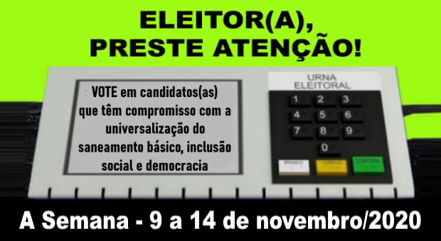 Eleições: vote em candidatos(as) comprometidos(as) com o saneamento público