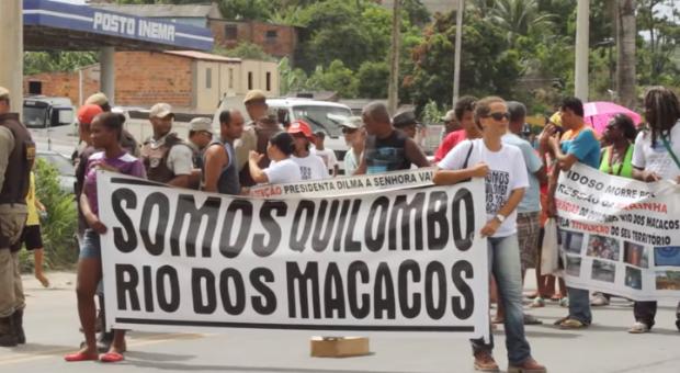 Quilombo Rio dos Macacos: moradores estão proibidos de acessar água e ONDAS prepara denúncia à ONU