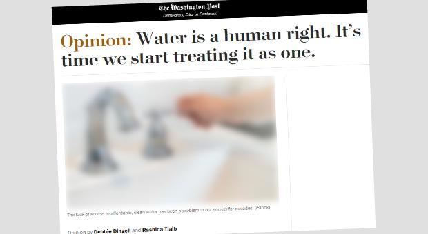 A água é um direito humano. É hora de começarmos a tratá-lo como um só