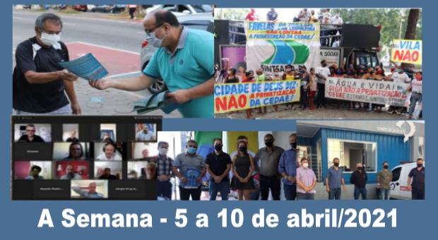 População mobilizada para defender empresas públicas de saneamento