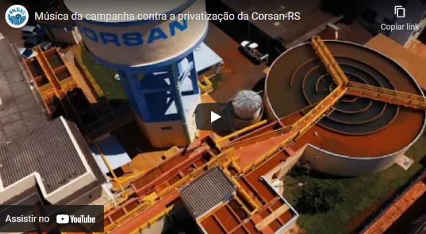 Campanha contra a privatização da Corsan-RS